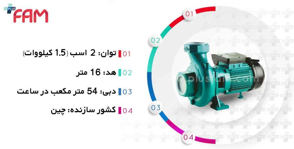 مشخصات فنی پمپ آنشی CS200