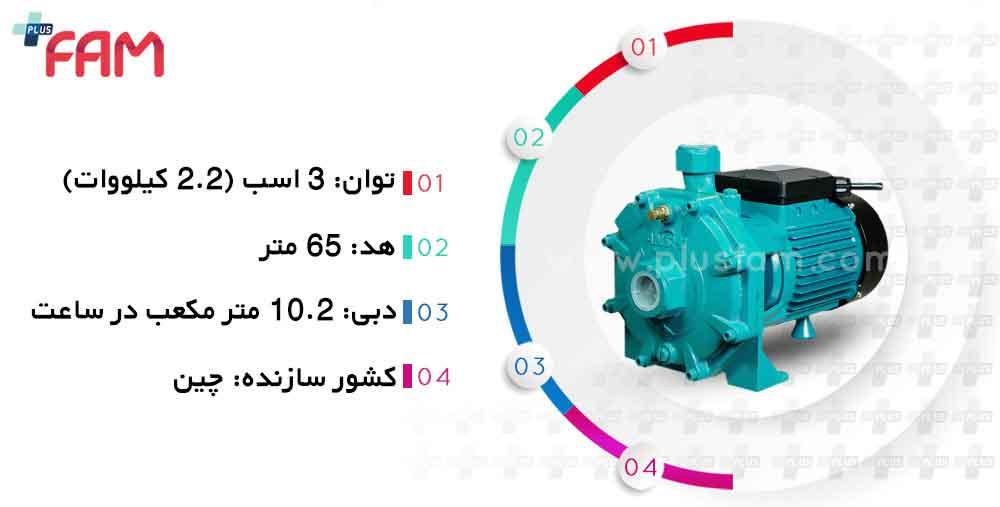 مشخصات فنی پمپ Anshi مدل SB310