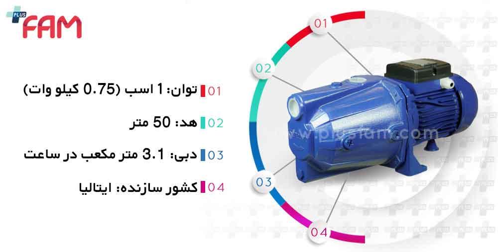 مشخصات فنی پمپ Stream مدل SJET100L