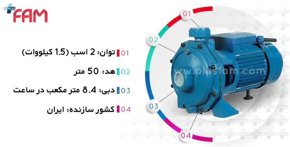 مشخصات فنی پمپ دیزل ساز مدل DB210/01