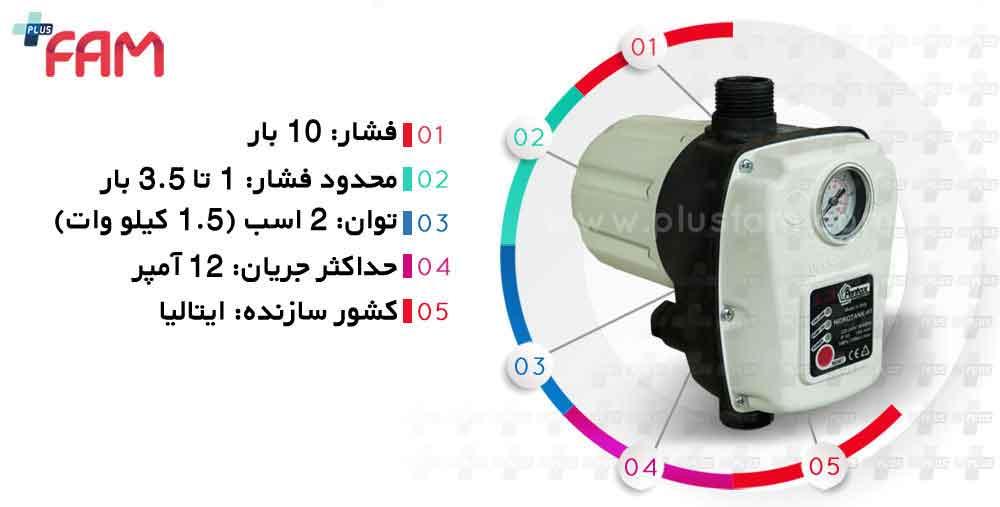 مشخصات فنی ست کنترل Pentax مدل HIDROTANK H1