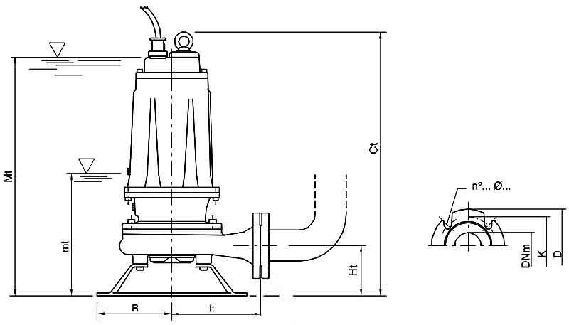ابعاد پمپ لجن کش پنتاکس DCT 560