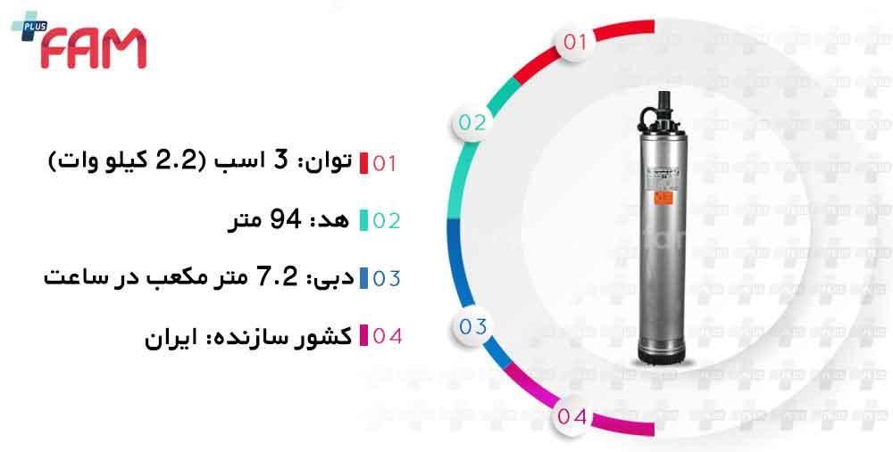 مشخصات فنی پمپ کف کش راد 5ss09-137