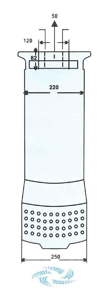 ابعاد پمپ کف کش فدک F150/5 2 اینچ