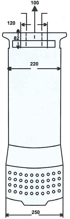 ابعاد پمپ کف کش فدک F 92/3 سایز 4 اینچ