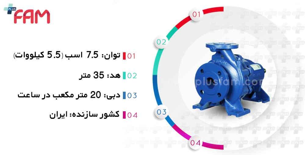 مشخصات فنی پمپ پمپیران EN32-160