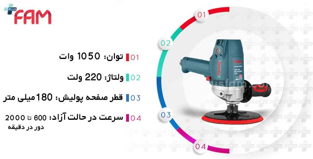مشخصات فنی دستگاه پولیش رونیکس 6115