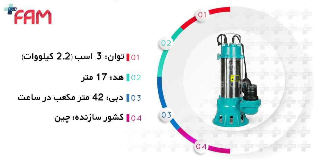 مشخصات فنی پمپ لجن کش CNB V2200
