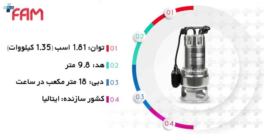 مشخصات فنی پمپ لجن کش پنتاکس DX 100 G