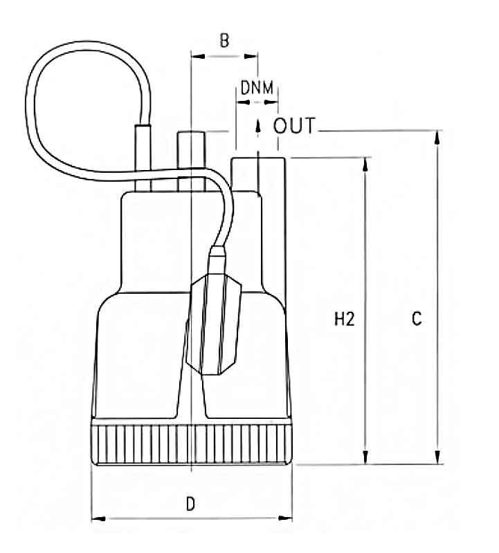 ابعاد پمپ کف کش پنتاکس DP40 G