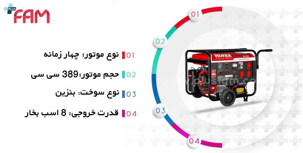 مشخصات فنی موتور برق رونیکس RH-4760