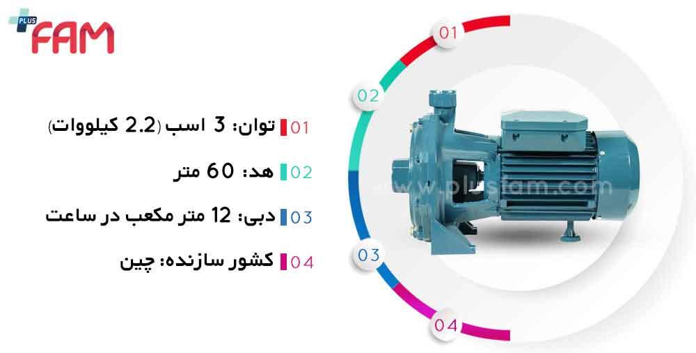 مشخصات فنی پمپ تراویس TB 310