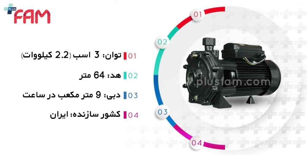 مشخصات فنی پمپ نوید موتور NM - CB 310