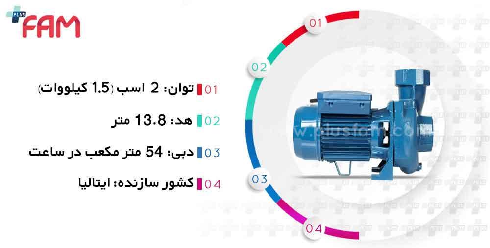 مشخصات فنی پمپ پنتاکس CS200/2 اینچ