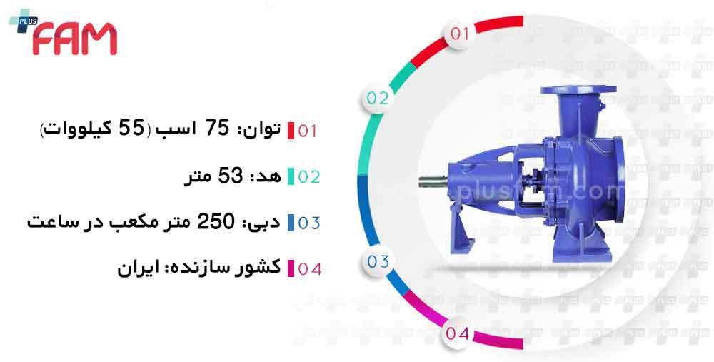مشخصات فنی پمپ پمپیران EN100-200