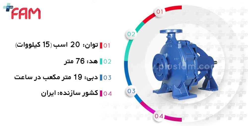 مشخصات فنی پمپ پمپیران EN32-250