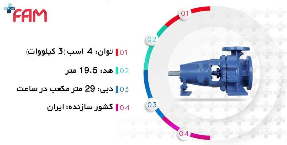 مشخصات فنی پمپ پمپیران EN40-125