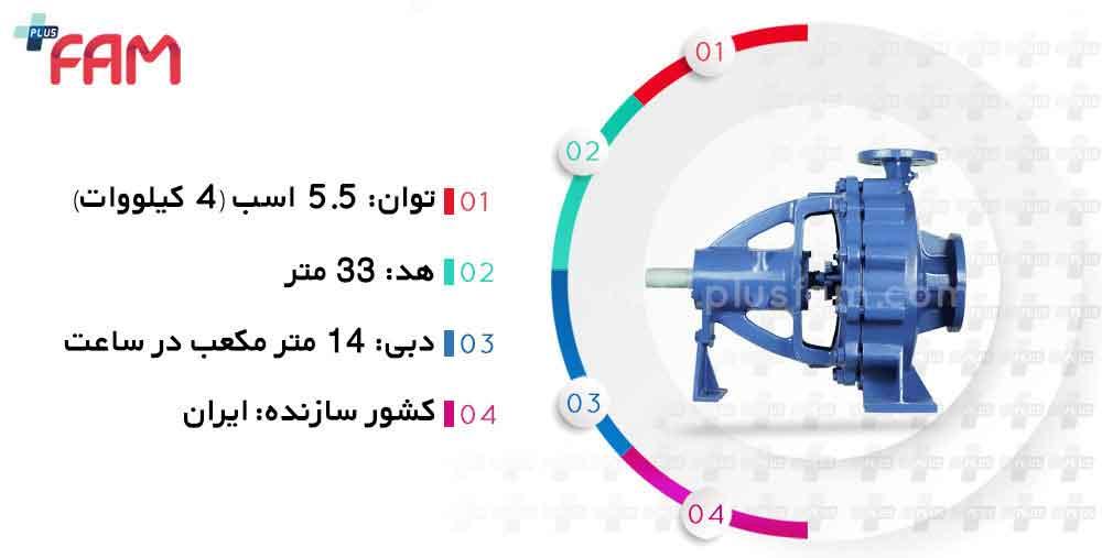 مشخصات فنی پمپ پمپیران EN40-315
