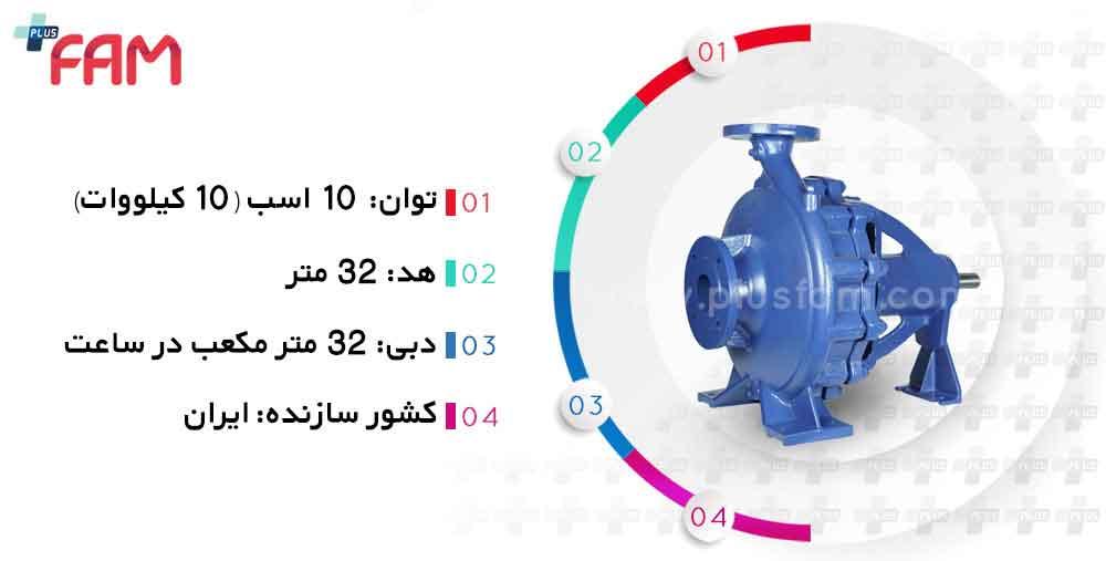 مشخصات فنی پمپ پمپیران EN50-315