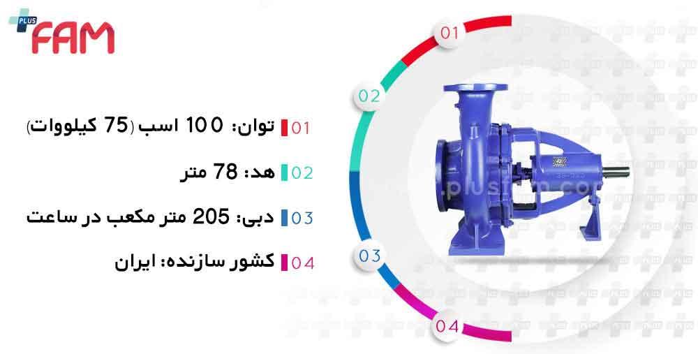 مشخصات فنی پمپ پمپیران EN80-250