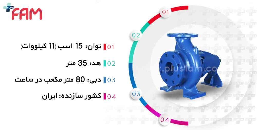 مشخصات فنی پمپ پمپیران EN65-315